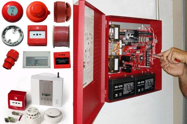 Процесс ремонта пожарной сигнализации