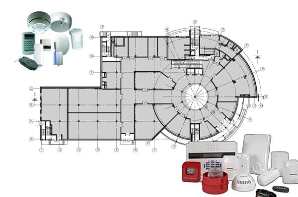 Проект пожарной сигнализации для торгового центра